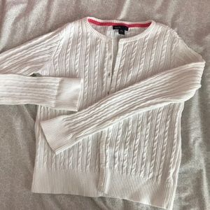 Gap cotton cable knit cardigan